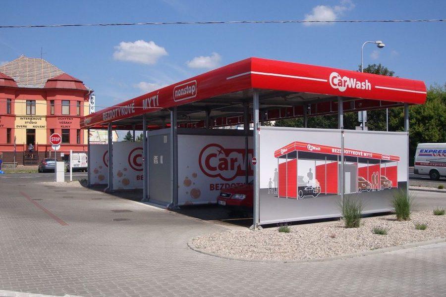 Samoobslužná bezdotyková automyčka Kolín - křižovatka ulic Pražská a Mikoláše Alše